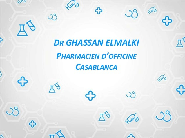 DR GHASSAN ELMALKI PHARMACIEN D'OFFICINE CASABLANCA