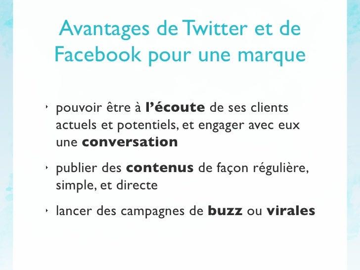 e-mk : Facebook et Twitter pour les marques Slide 2