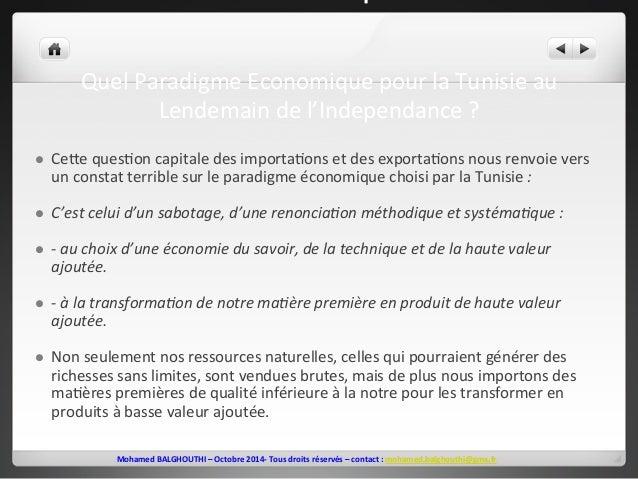 lendemain  de  l'Indépendance  ?  Quel  Paradigme  Economique  pour  la  Tunisie  au  Lendemain  de  l'Independance  ?  l...
