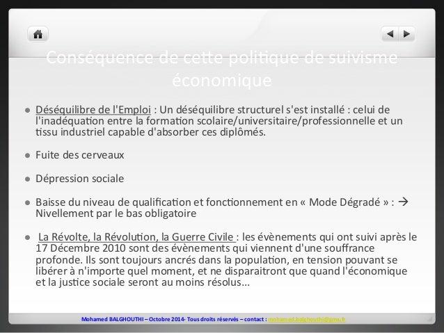 Conséquence  de  ceve  poli2que  de  suivisme  économique  l Déséquilibre  de  l'Emploi  :  Un  déséquilibre  structurel ...