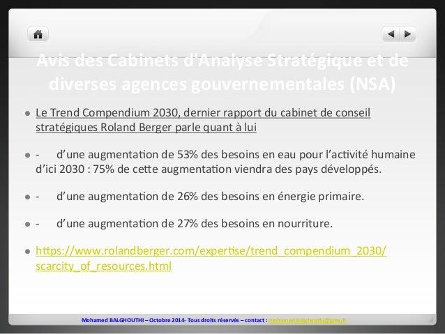 Avis  des  Cabinets  d'Analyse  Stratégique  et  de  diverses  agences  gouvernementales  (NSA)  l Le  Trend  Compendium ...