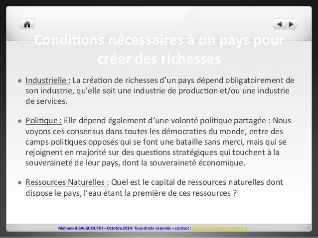 CondiEons  nécessaires  à  un  pays  pour  créer  des  richesses  l Industrielle  :  La  créa2on  de  richesses  d'un  pa...