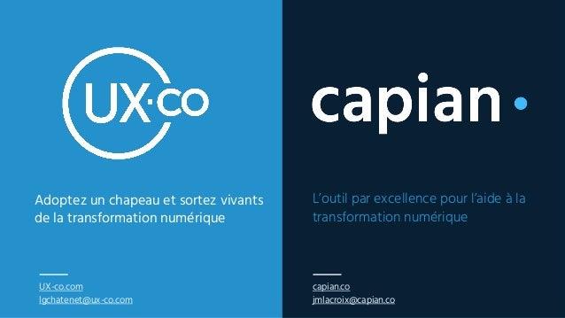 UX-co.com lgchatenet@ux-co.com L'outil par excellence pour l'aide à la transformation numérique Adoptez un chapeau et sort...