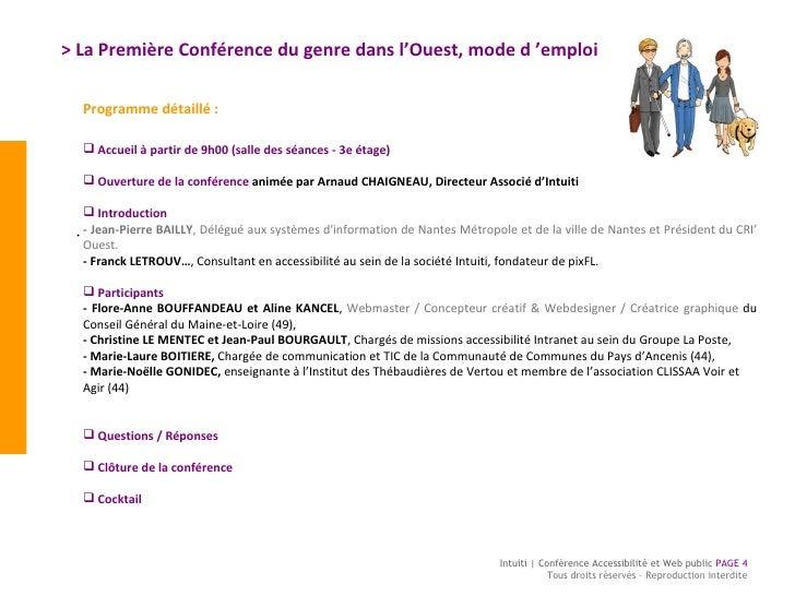 > La Première Conférence du genre dans l'Ouest, mode d'emploi  Intuiti | Conférence Accessibilité et Web public  PAGE  To...