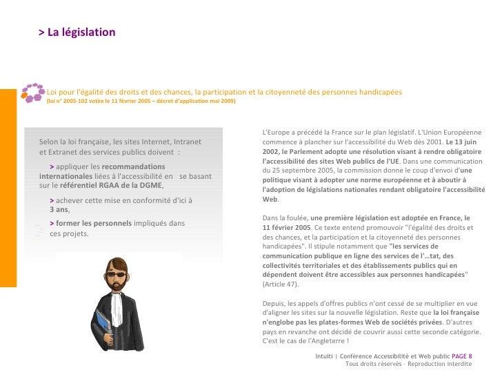 <ul><li>Loi pour l'égalité des droits et des chances, la participation et la citoyenneté des personnes handicapées   </li>...