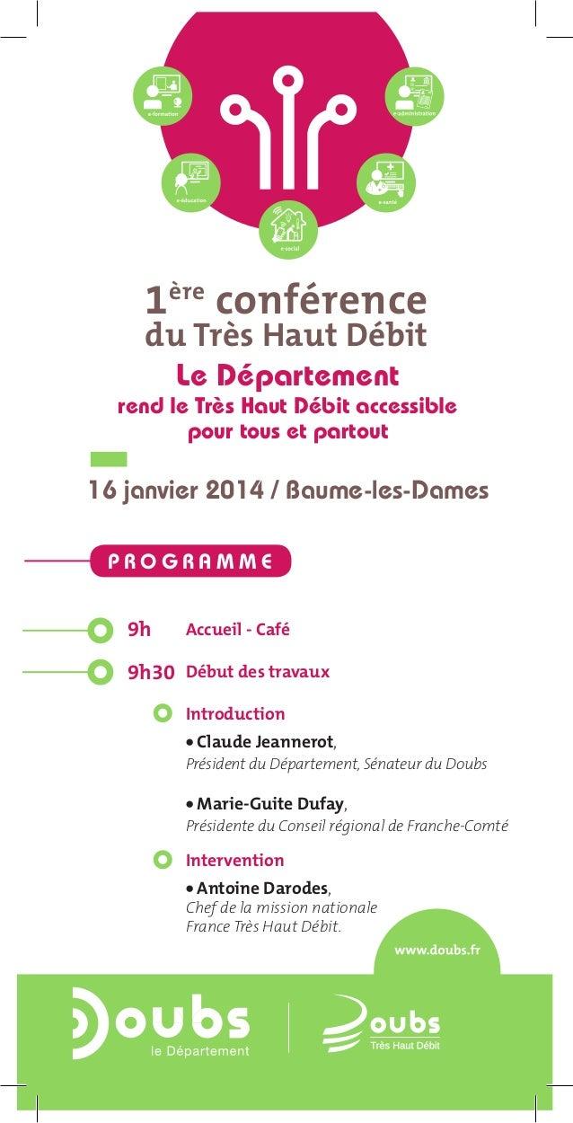 1ère conférence du Très Haut Débit à Baume-les-Dames