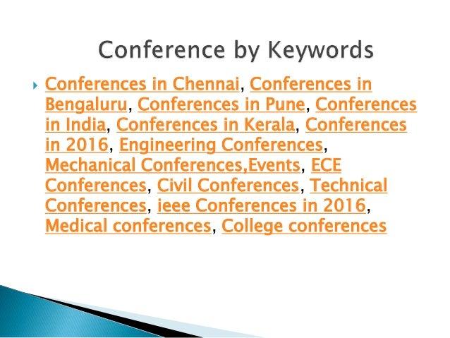 Conference alerts   Conference alert  Upcoming Conferences alerts India 2015, 2016