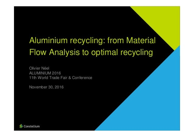Olivier Néel ALUMINIUM 2016 11th World Trade Fair & Conference November 30, 2016 Aluminium recycling: from Material Flow A...
