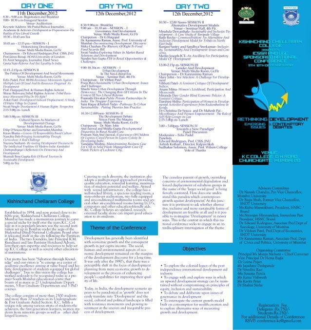 Conference brochure kc college 11 12 dec. 2012