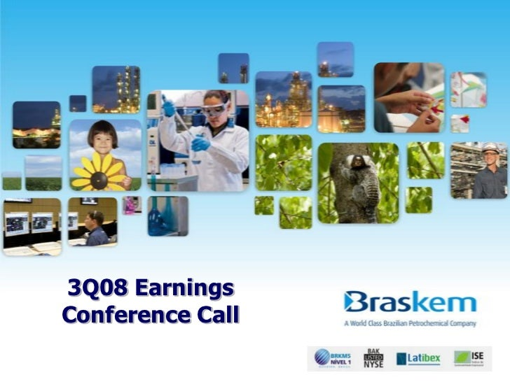 3Q08 EarningsConference Call