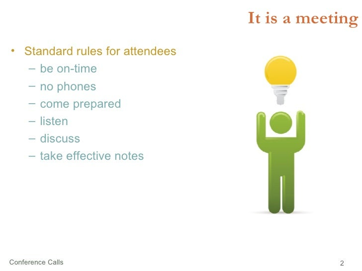 Conference Calls Slide 2