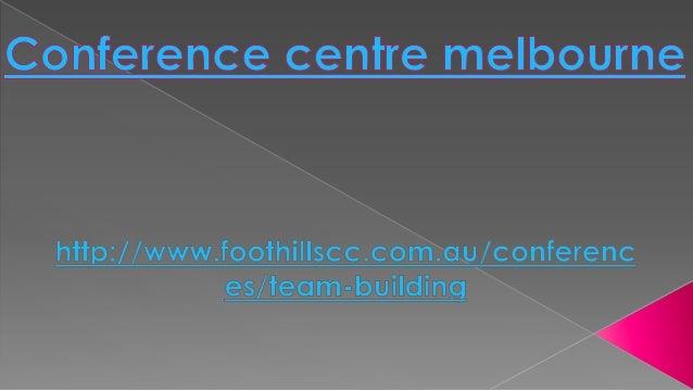 Conference centre melbourne