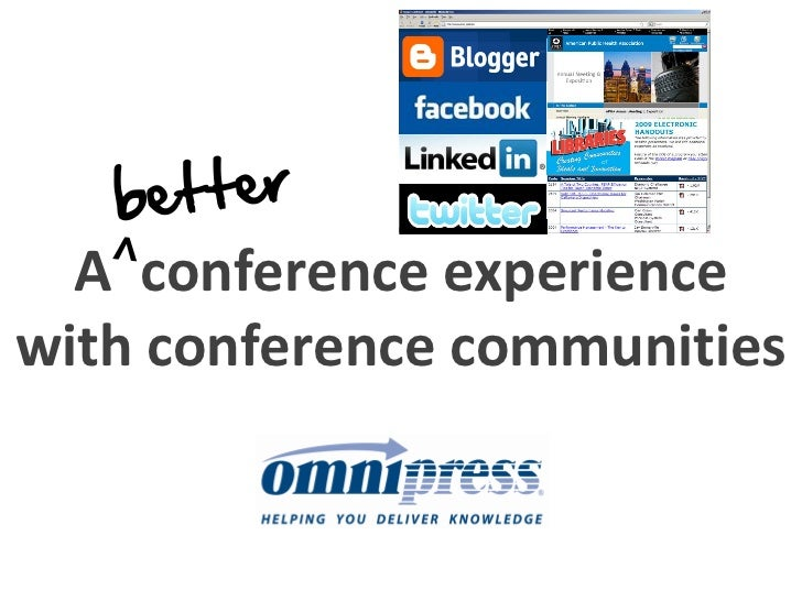 A conference experience with conference communities