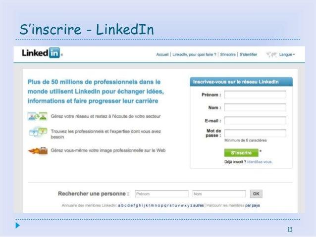 11 S'inscrire - LinkedIn