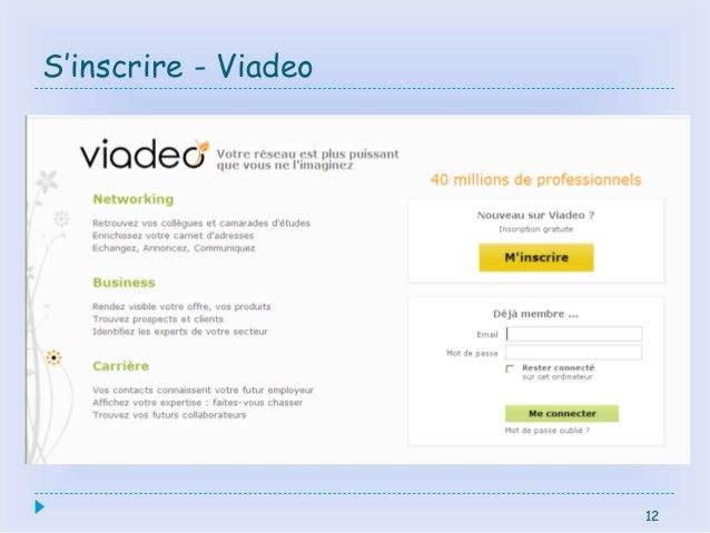 12 S'inscrire - Viadeo