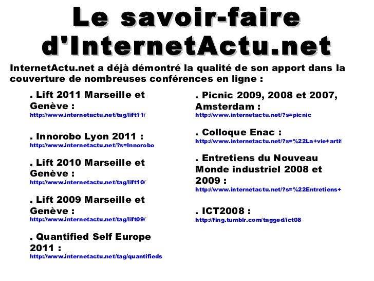 Vous souhaitez un panorama complet sur un événement, en français, utilisable par tous, présenté et mis en perspective par ...