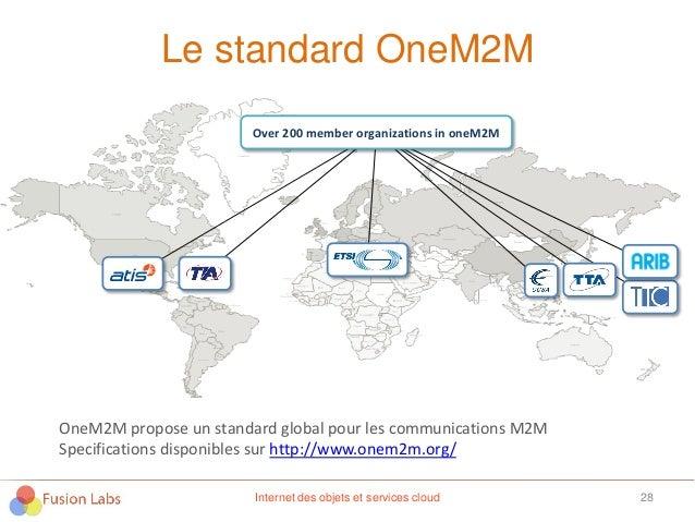 Le standard OneM2M 28Internet des objets et services cloud Over 200 member organizations in oneM2M OneM2M propose un stand...