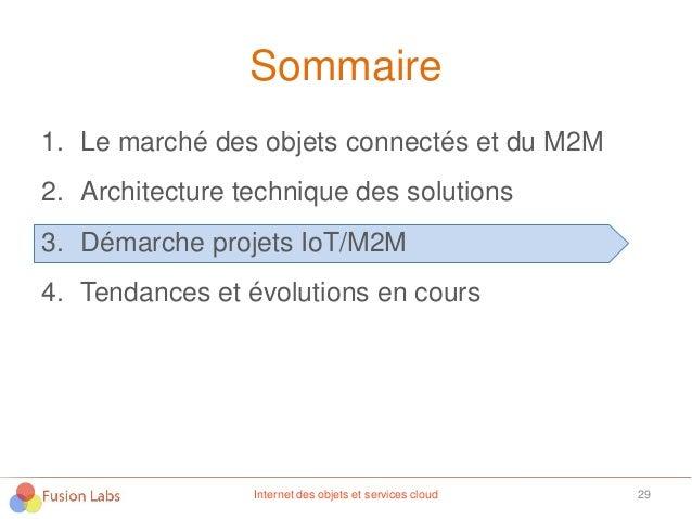 Sommaire 1. Le marché des objets connectés et du M2M 2. Architecture technique des solutions 3. Démarche projets IoT/M2M 4...