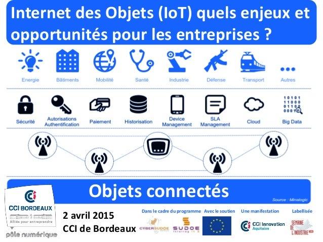 Internet des Objets (IoT) quels enjeux et opportunités pour les entreprises ? Objets connectés 2 avril 2015 CCI de Bordeau...
