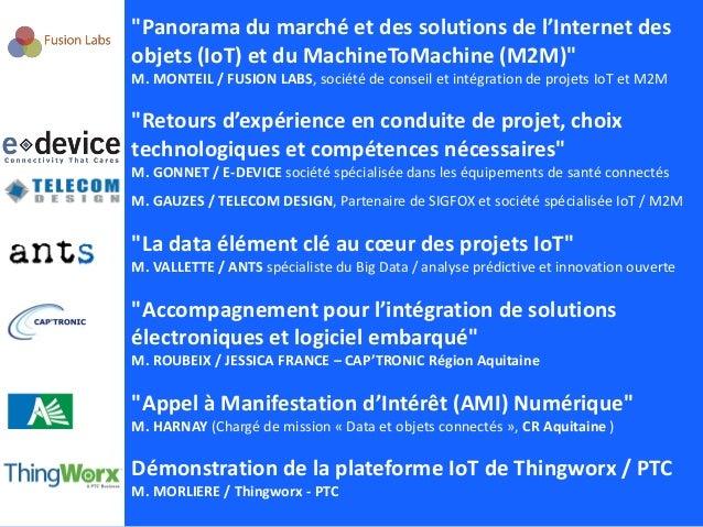 Conférence Internet des objets IoT M2M - CCI Bordeaux - 02 04 2015 - Introduction