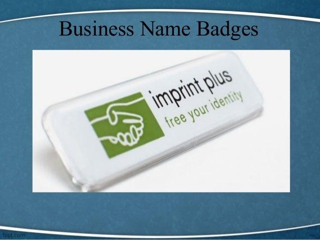 company name badges