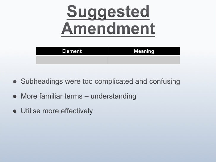 Element Meaning