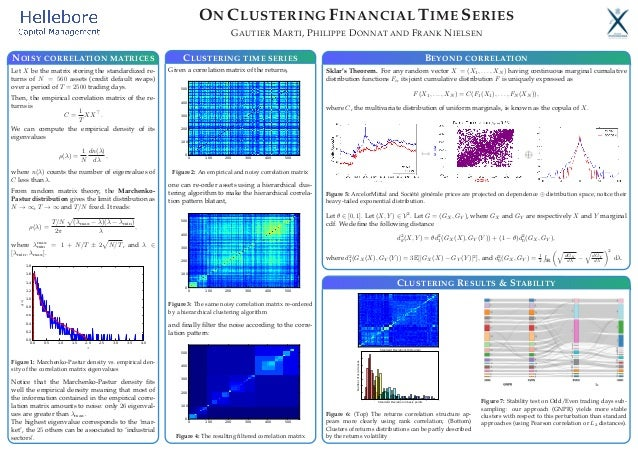 ON CLUSTERING FINANCIAL TIME SERIES GAUTIER MARTI, PHILIPPE DONNAT AND FRANK NIELSEN NOISY CORRELATION MATRICES Let X be t...