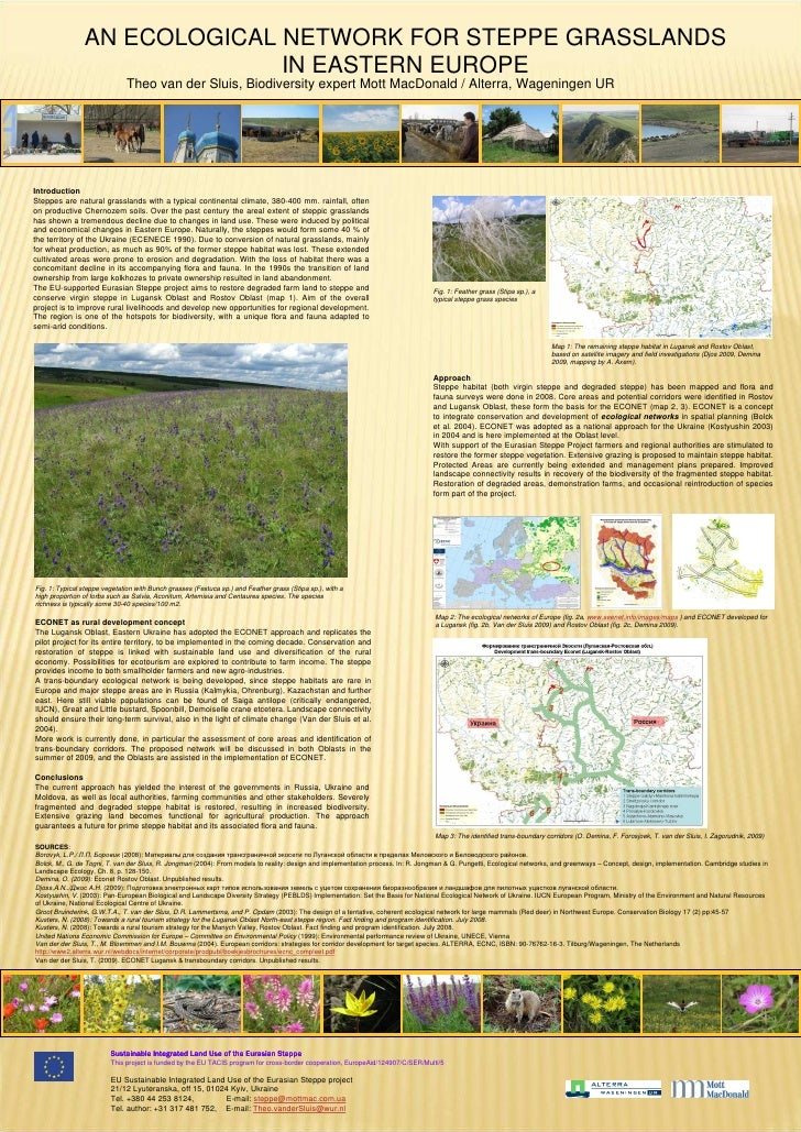 AN ECOLOGICAL NETWORK FOR STEPPE GRASSLANDS                               IN EASTERN EUROPE                               ...