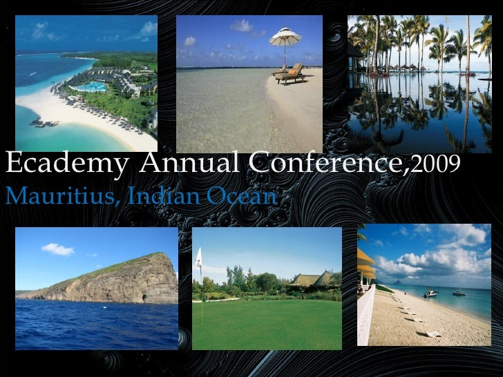 Ecademy Annual Conference,2009 Mauritius, Indian Ocean