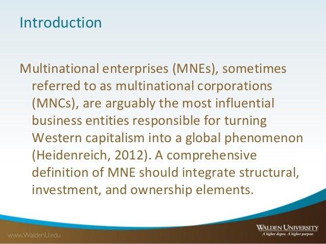 the impact of multinational enterprise mne