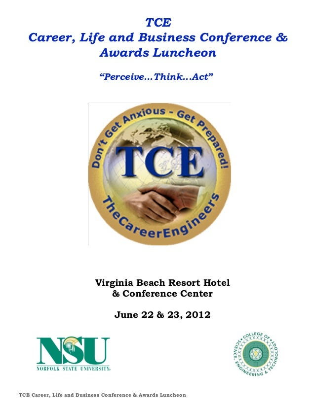 """TCE   Career, Life and Business Conference &              Awards Luncheon                           """"Perceive...Think...Ac..."""