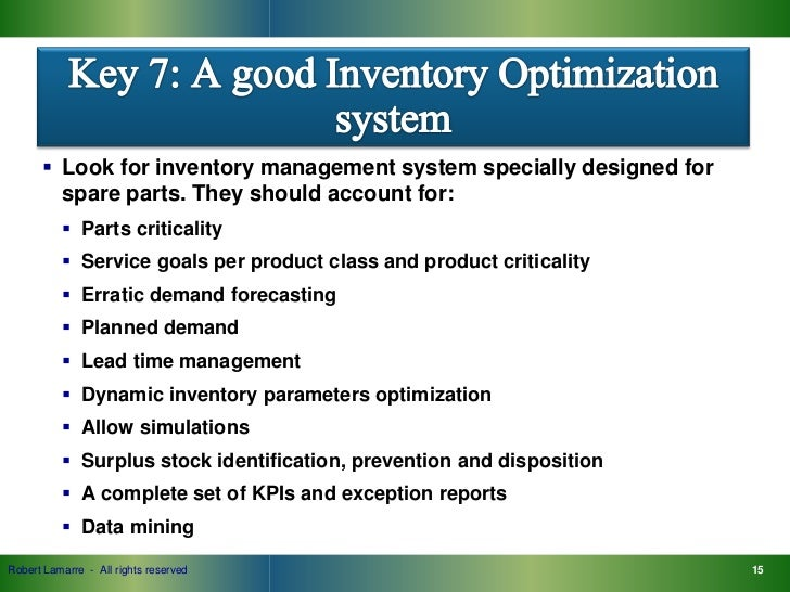 an analysis of the topic of the systems parts and maintenance Maintenance engineering handbook is a one-stop source of answers on all maintenance engineering functions reduced maintenance spare parts inventory reduced overtime system analysis identification of systems.