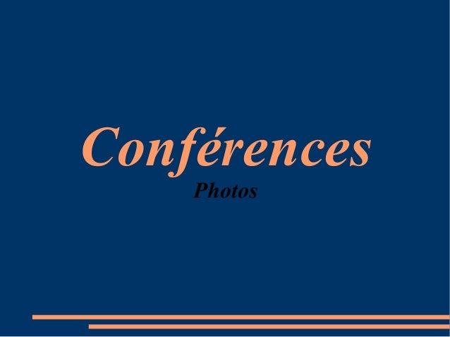 Conférences Photos