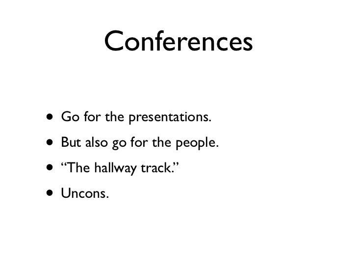 Conferences andcommunity Slide 3