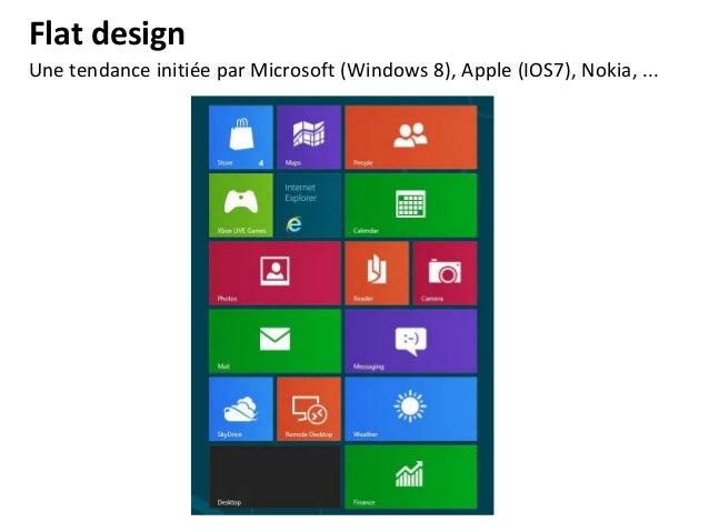 Flat design Un travail important sur les couleurs. Une réflexion sur le choix des typographies.  http://conference.awwward...