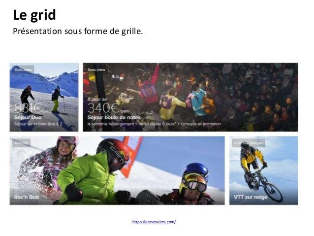 Parallax Site one page, visuels plein écran, incitation au scrolling, nouvelle manière de présenter les contenus (story te...