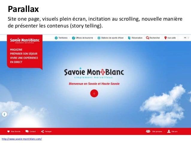 One page Avoir une histoire à raconter (image, texte, animation, vidéo, …). Scénarisation du site Internet.  http://www.ja...