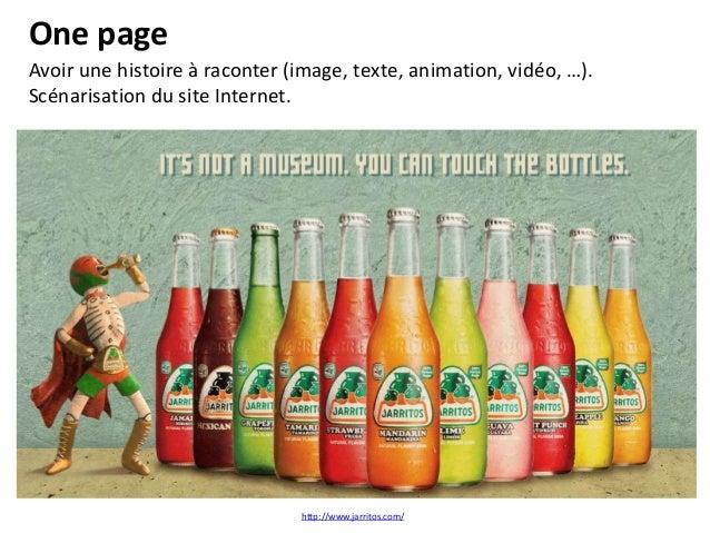One page Faire preuve de pédagogie, expliquer la navigation (pop-up, flèches, …)  http://www.stmichel.fr/