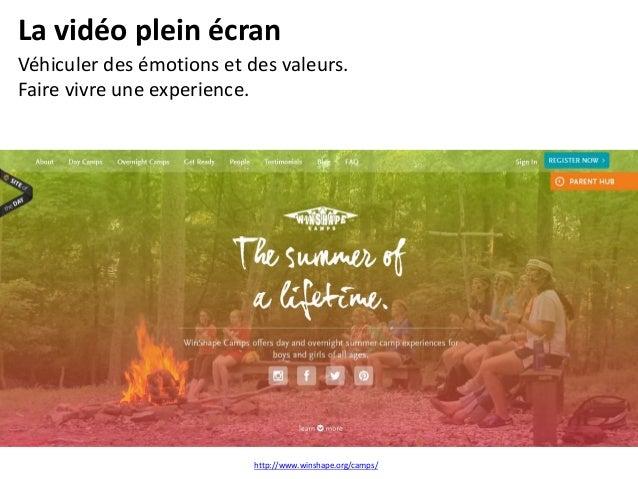 Site one page Visuels plein écran, incitation au scrolling, nouvelle manière de présenter les contenus (story telling). ht...