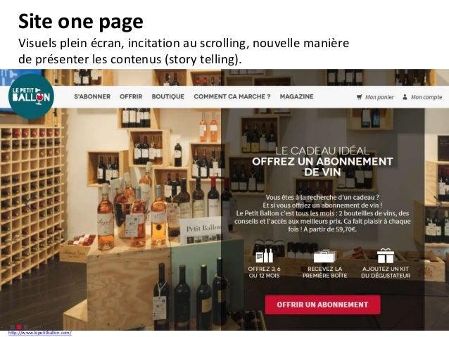 One page Avoir une histoire à raconter (image, texte, animation, vidéo, …). Scénarisation du site Internet. http://www.lig...