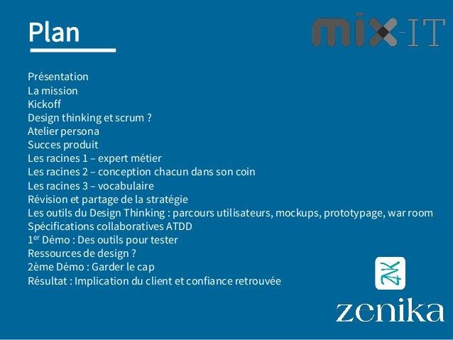 (Re) Cadrage en équipe agile (Intégrer Scrum et Design Thinking : REX) Slide 2