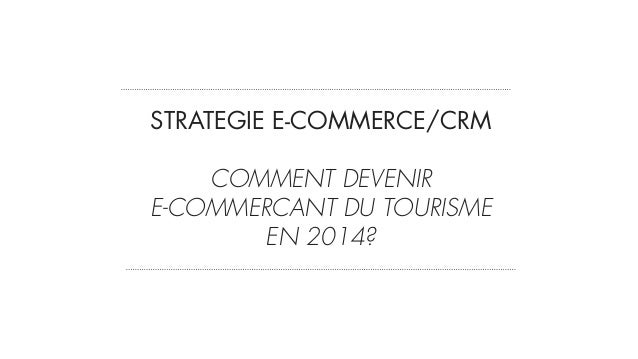 STRATEGIE E-COMMERCE/CRM 