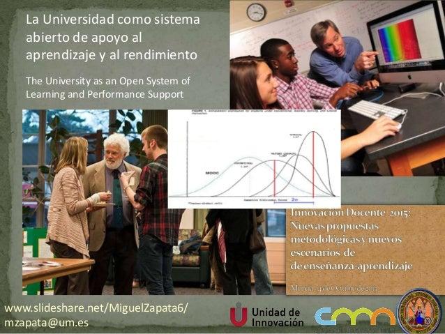 The University as an Open System of Learning and Performance Support La Universidad como sistema abierto de apoyo al apren...