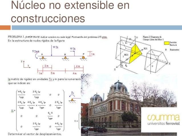 Núcleo no extensible en construcciones