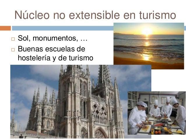 Núcleo no extensible en turismo  Sol, monumentos, …  Buenas escuelas de hostelería y de turismo