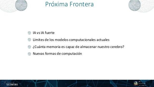 Próxima Frontera 24 IA vs IA fuerte Límites de los modelos computacionales actuales ¿Cuánta memoria es capaz de almacenar ...