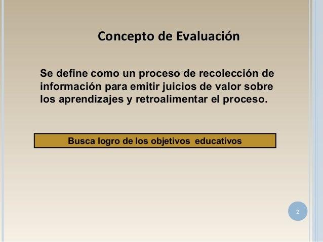 Se define como un proceso de recolección de información para emitir juicios de valor sobre los aprendizajes y retroaliment...