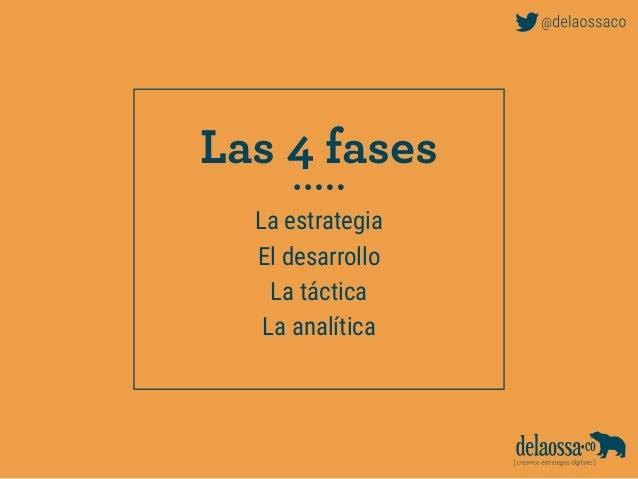 La estrategia El desarrollo La táctica La analítica Las 4 fases