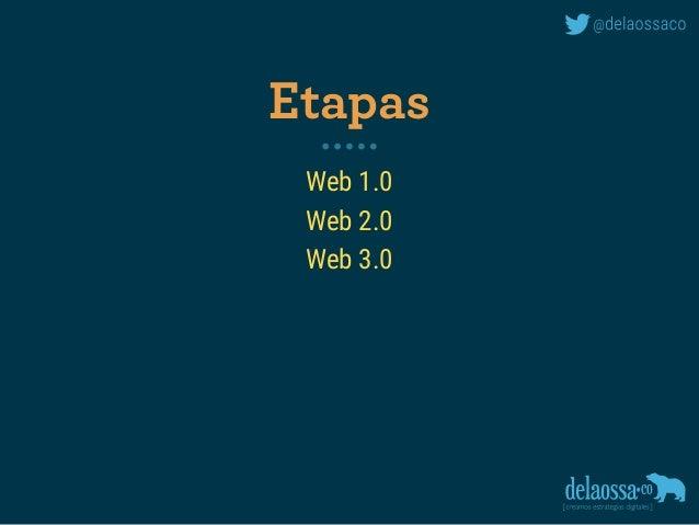 Web 1.0 Web 2.0 Web 3.0 Etapas