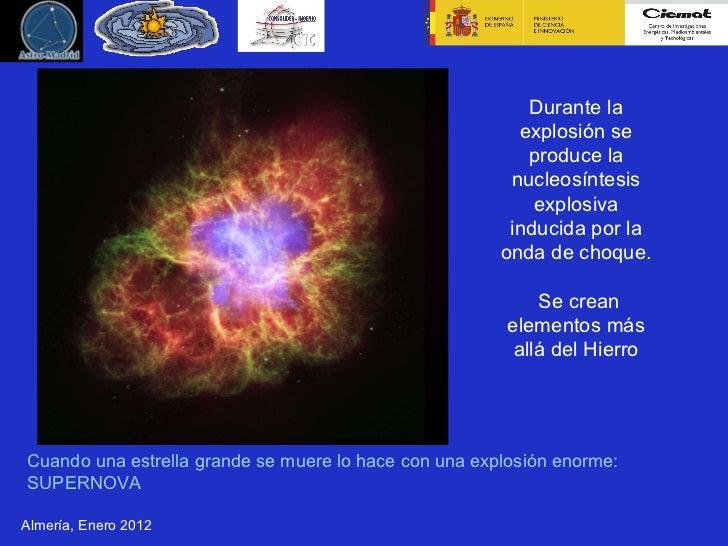 Resultado de imagen de En las supernovas se produce la <a href=